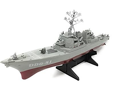 "Toy Aircraft Carrier Playset includes Destroyer Ship, 5 Planes, & Aircraft Carrier has Lights and Realistic Sounds (""red alert"", missiles launching, & Ship Horn)"