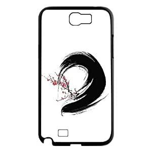 Vety Ink Painting Samsung Galaxy Note 2 Cases, Luxury Brand Luxury Case for Samsung Galaxy Note 2 {Black}
