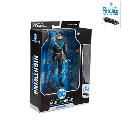 McFarlane Toys - DC Multiverse - Nightwing: Better Than Batman Action Figure with Build-A Rebirth Batmobile (Piece 2)