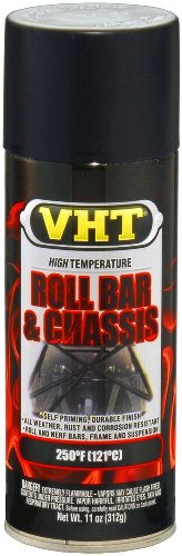 VHT ESP671007-6 PK Satin Black High Temperature Roll Bar and Chassis Paint - 11 oz. Aerosol, (Case of 6) by VHT (Image #1)