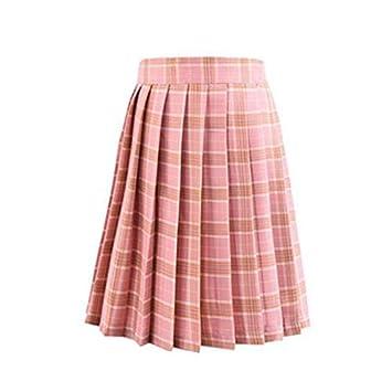 HEHEAB Falda,Cintura Alta Mini Faldas Plisada Niñas Harajuku Falda ...