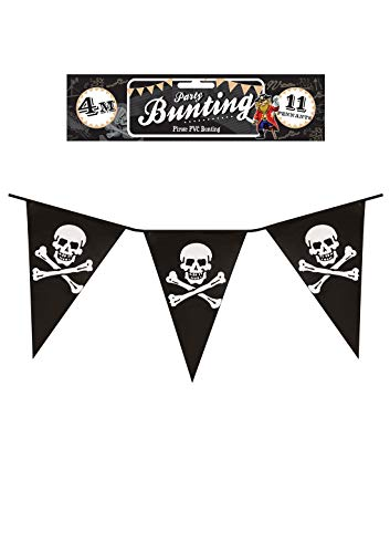 - Rimi Hanger Pirate Bunting 4 Meter Plastic Party Teen Kids Pennants Banner Bunting Accessory 4 Meter One Size