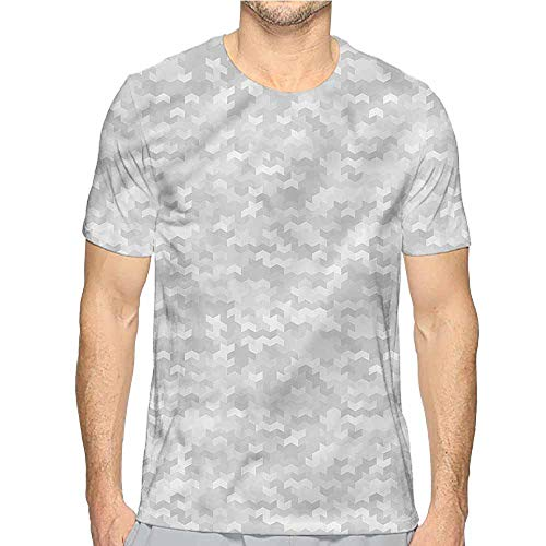 Comfort Colors t Shirt Grey,Puzzle Like Pattern t Shirt S ()