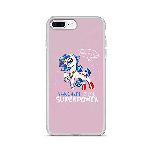 (iPhone 7 Plus/8 Plus Pure Clear Case Cases Cover Sarcasm is My Superpower Cute Little Pony)