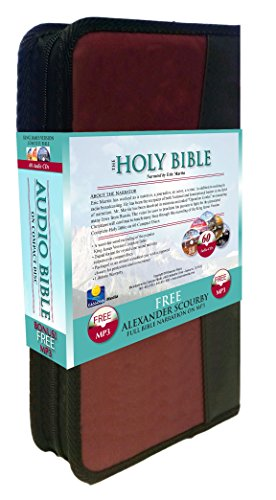 2 Complete King James Version Audio Bibles in one Product! -60 CD Discs Narrated by Eric Martin and 2 MP3CDs narrated by Alexander Scourby.All 66 ... ... Complete Old and New Testaments on 60 CDs by Casscom Media (Image #3)