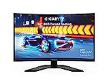 "GIGABYTE G32QC A (32"" 165Hz 1440P Curved Gaming Monitor, 2560 x 1440 VA 1500R Display, 1ms (MPRT) Response Time, 93% DCI-P3, VESA Display HDR400, FreeSync Premium Pro"