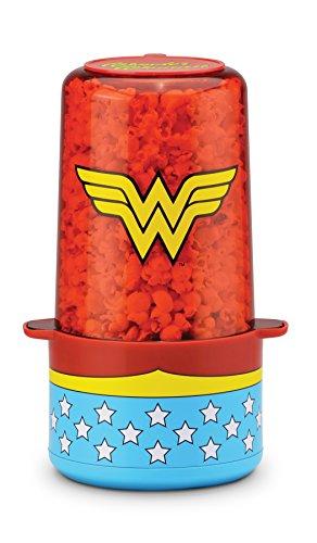 - DC DCW-60 Wonder Woman Popcorn Popper, One Size, Blue/Red/Yellow