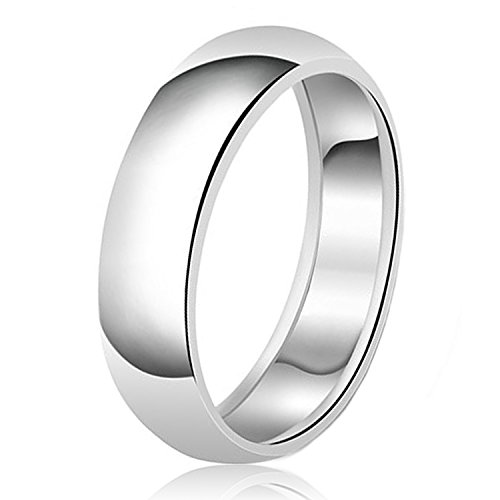 8mm Band Sterling Silver Ring - 4