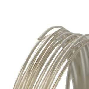 12 Gauge Half Round Dead Soft .925 Sterling Silver Wire - 5FT