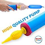 BalloonPlay Double Action Handheld Balloon air Pump Compressor for Sculpting Balloon Animals, Exercise Balls, Yoga Balls, Pool Floats. Works flawlessly. Ergonomic Design for a Simple Operation