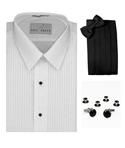 do Shirt, Cummerbund, Bow-Tie, Cuff Links and Studs Set (Stud Strap Tie)