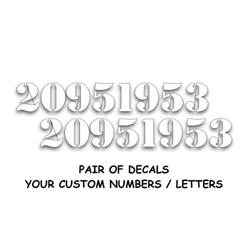 Solar Graphics USA ID Hood Bumper Numbers Decal to for sale  Delivered anywhere in USA