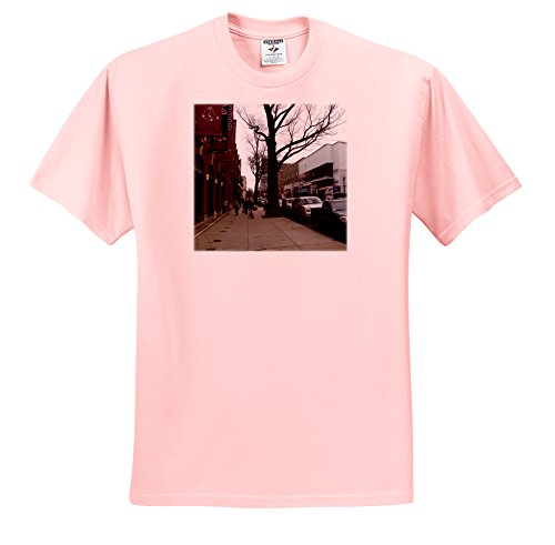 Lenas Photos - Boston - Boston fans walking by the gorgeous Fenway Park - T-Shirts - Adult Light-Pink-T-Shirt XL (ts_59201_37)