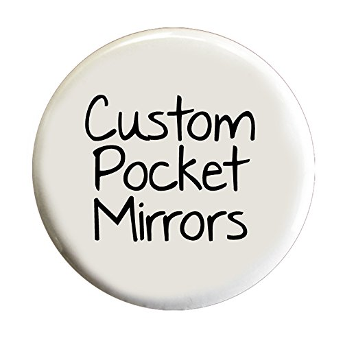 Custom Pocket Mirrors - 2.25 Inch Round Promotional Mirrors in Wholesale Bulk (Set of 50)