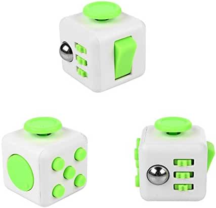 Fidget Dice 6 Sides Release Stress Anxiety and Relax Cube for Children and Adults