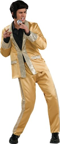 Elvis Presley Gold Suit Costume - Medium