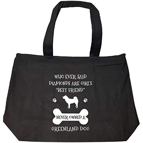 My Best Friend Is Greenland Dog Cool Gift - Tote Bag With Zip