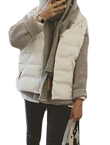 絞るめまい日付付きDeBangNi レディース ベスト 秋冬 チョッキ 無地 スタンドカラー 防寒 ジャケット 袖なし スリム 着やせ 軽量 暖かい アウター ショート丈 韓国風 ファッション 柔らかい
