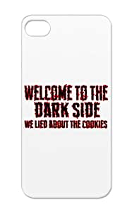 TPU Red Welcome Blood Funny Dark Side Humor Hell Funny Jokes Cookie Dark Darksidever2 Protective Hard Case For Iphone 5s
