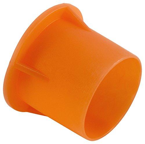 Caplugs QPZ5Q1 PZC-5 Plastic Sleeve Cap for Tube Ends, To Cap Thread Size 5/8'', PE-LD, Orange(Standard) (Pack of 1000) by Caplugs (Image #3)
