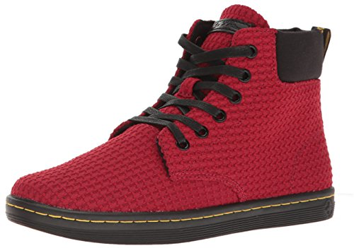 Dr. Martens Womens Maelly WC Ankle Bootie Dark Red+black