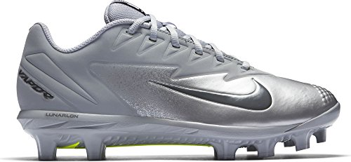 Nike Hommes Vapeur Ultrafly Pro Mcs Baseball Taquet Loup Gris / Gris Foncé / Argent Métallique