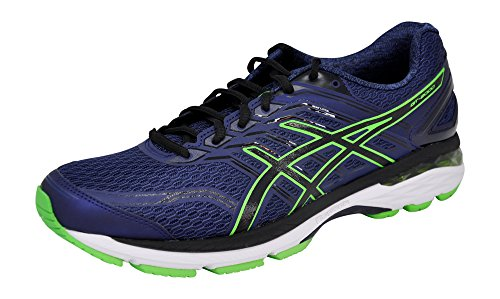 ASICS Mens GT-2000 5 Running Shoe, Indigo Blue/Black/Green, 11 D(M) US