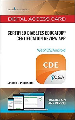 Certified Diabetes Educator Certification Review App