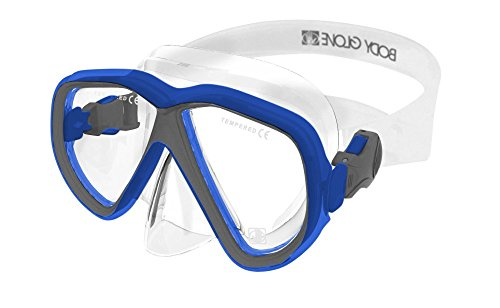 Body Glove Azores Adult Dive Mask, Blue/Gray, Large ()