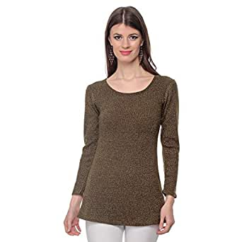 Cocum Idola Shiny Blouse for Women - 8 UK, Brown