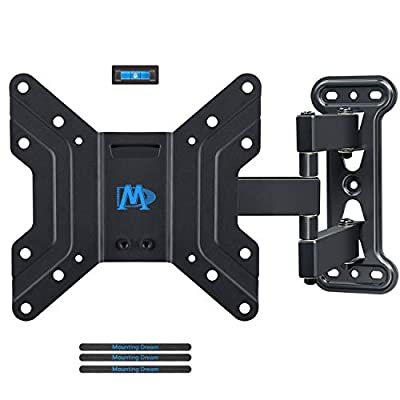 "Mounting Dream TV Wall Mounts TV Brackets for Most 17-39"" Flat Screen TV, Full Motion TV Mounts with Swivel Articulating 18.8"" in Extension Arm, up to 60lb VESA 200x200, Perfect Center Design,MD2413-S"