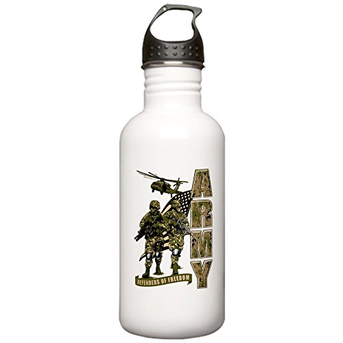 Stainless Water Bottle 1.0L US Army Defenders Freedom Soldiers by Royal Lion