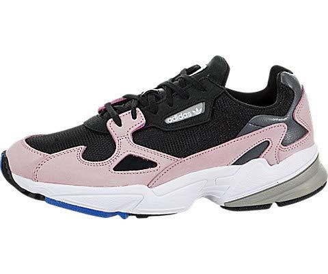 (adidas Originals Falcon Shoe Women's Casual 6.5 Black-Light Pink)