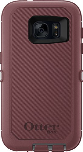 OtterBox DEFENDER SERIES Case for Samsung Galaxy S7 (ONLY) Case Only/No Holster - Non-Retail Packaging - GUNMETAL GREY/MERLOT PURPLE