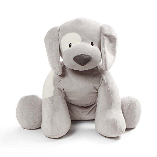 Baby GUND Spunky Puppy Dog Jumbo Over 2 Feet Tall Stuffed Animal Plush, Gray by GUND