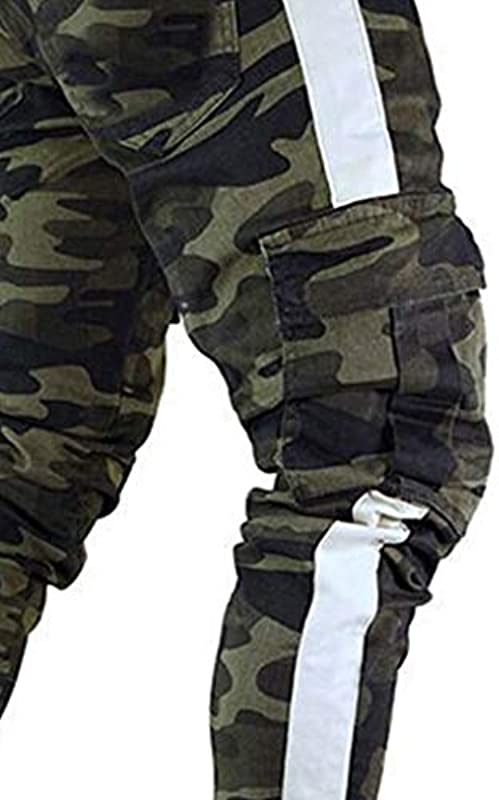 Hose Męskie, Jeans Męskie,Casual Jogging Pants Cargo Chino Bodybuilding Enge Stretch-Denim-Hose Sport Trousers Męskie Jogginghose Slim Fit Jeans Hose: Drogerie & Körperpflege