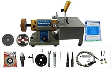 TM-2 Gem Jewelry Rock Polishing Buffer Bench Lathe /& Polisher Machine Set 220V with Bench