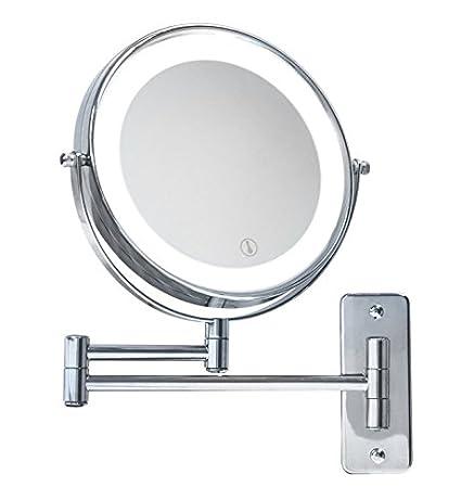 Specchi Ingranditori Per Bagno Con Luce.Specchio Ingranditore Con Luce Led A Batterie Amazon It Illuminazione