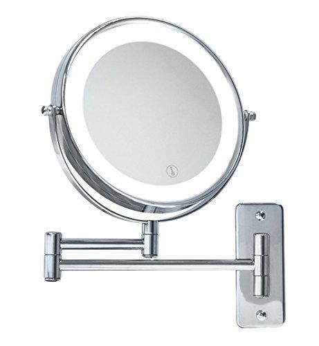 Specchio Bagno Con Braccio.Specchio Ingranditore Con Luce Led A Batterie