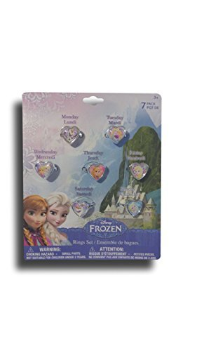 Disney Frozen 7 Days of the Week Ring Set -