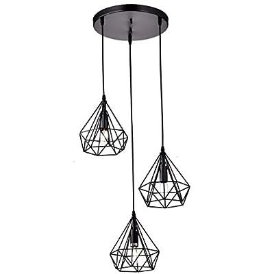 Dazhuan Antique Metal Pendant Lighting Fixtures Rustic Chandeliers Lamps with 3 Lights