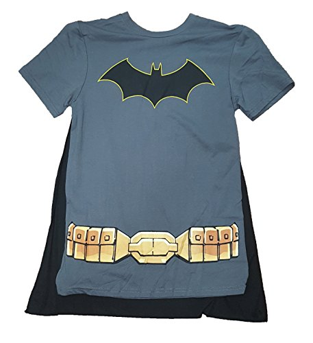 DC Comics Batman Costume Graphic T-Shirt w/ Cape - Large
