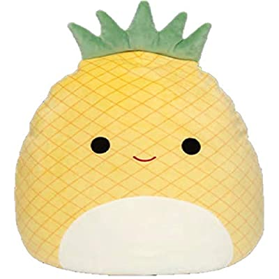 "Squishmallow Kellytoy 2020 Fruits Collection Plush Toy (16"" Maui The Pineapple): Toys & Games"