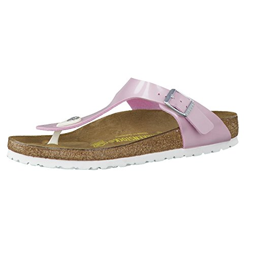Birkenstock Women's Gizeh Cork Footbed Thong Sandal Pearly Ros 38 M EU by Birkenstock
