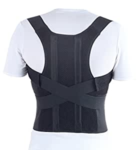 TOROS-GROUP Comfort Posture Corrector and Back Support Brace - X-Large, Waist/Belly 101-110 Negro