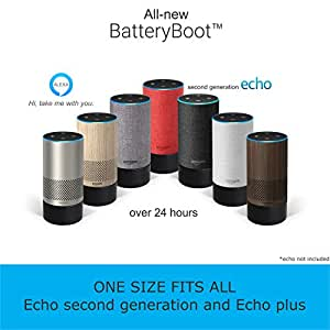 All-New MegaBoot (Works ONLY with Echo 2nd Generation and Echo Plus) | with Over 24 Hours of Battery Life| Battery Base | Alexa