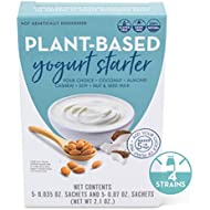 Plant Based Dairy Free Vegan Yogurt Culture - 5 Quart Pack - Recipe Booklet Included
