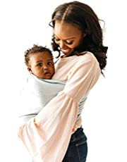 Kyte BABY Ring Slings Holds Babies from 8 to 35lbs - 100% Pre-Washed Linen 80 Inches Long, Extremely Comfortable with Full Support, Rose Gold Rings (Wisteria)