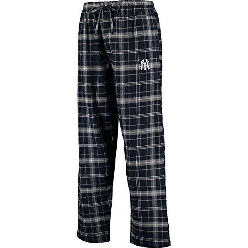 Concepts Sport New York Yankes Men's Huddle Flannel Lounge Pants - Navy/Gray (Medium) Good Flannel Lounge Pants