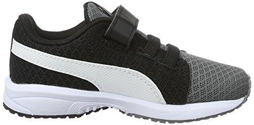 Puma Carson Runner Mesh Ve V Inf, Zapatillas Unisex Niños Gris (Steel Gray-puma White 03)